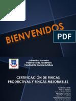 Derecho Agrario Certificacion de Fincas - Copia