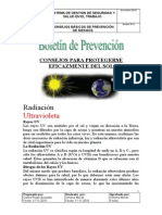 Boletin de Prevencion Proteccion Nº3 Solar Radiacion Uv