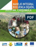 Plan de Manejo Integral de la Microcuenca Oquén, Guatemala.