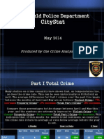 Pittsfield Police May 2014 CityStat Report