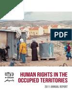 Reporte Anual 2011 de Btselem