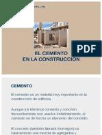 El Cemento en la Construcción
