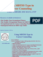 Using MBTI Type in Career Counseling