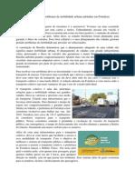Ações de Mitigação Do Problemas de Mobilidade Urbana Adotadas Em Fortaleza