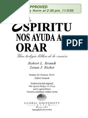Orar A Libro El Espiritu Nos Ayuda LMVSUzpqG