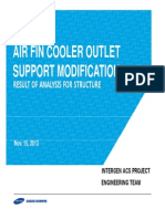 Air Fin Cooler Outlet Support Modification Plan