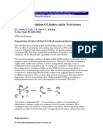 Amino Acid to Ketones - With Sodium Hypochlorite