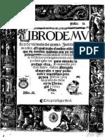 Libro de Musica de Vihuela de Mano - Luis Milan