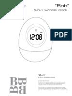Brookstone Bobble Clock Manual