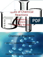 Types of Chemical Reactions Powerpoint Presentation