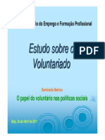 Estudo Sobre o Voluntariado - OEFP
