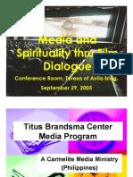 Media and Spirituality through Film Dialogue