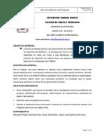 Acta Constitución Del Proyecto Is