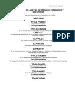 Reglamento de La Ley de Informacion Estadistica y