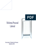 Reforma Procesal Laboral