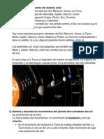 Nombra Los Componentes Del Sistema Solar