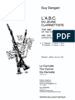 DANGAIN L'ABC Du Jeune Clarinettiste 1