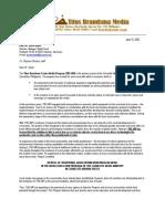 2003 - Proj Proposal sent to Bishops' Relief Fund