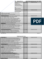 Facility Safety Audit example