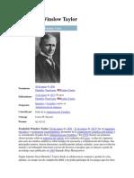 Teoria Del Contenido de Frederick Winslow Taylor