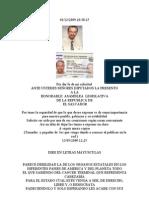 A LOS DIPUTADOS de EL SALVADOR