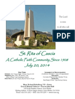 St. Rita Parish Bulletin 7/20/2014