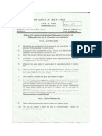 LLB Part 1 Punjab University Unsolved Question Papers Annual 2014