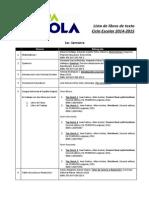 Lista de Libros de Texto Ciclo Escolar 2014-2015(1)