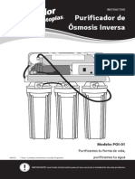 Instructivo Purificador de Osmosis Inversa