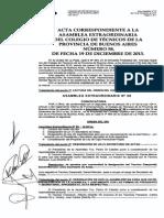 Primera Asamblea Extraordinaria N°58 Colegio de Técnicos con Negativa a Proyecto Ley de Caja Prev. Propia