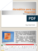 Excel 2010 - Introduccion