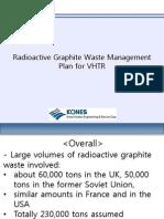 Radioactive Graphite Waste Management Plan for VHTR