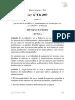 Ley 1274 de 2009 Servidumbres Petroleras