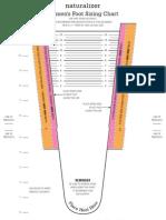 Naturalizer Tallas Plantilla SIZING CHART 11x8.5 -EnG