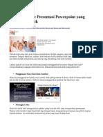 Tips Berbicara Dan Presentasi