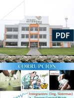 Cprrupción en El Peru