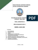 Silabo de Salud y Sociedad v 2014 I