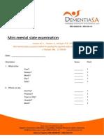 MMSE - Mini Mental State Examination - English - As 45 - July 2010 - C