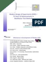DOE 75 Years of Development of MFT