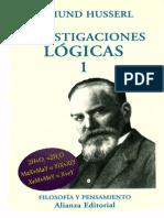 Husserl Investigaciones Logicas I