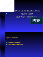Imbalance of  acid-and-base