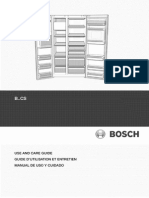 BOSCH Fridge Manual