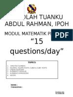 Matematik Pmr Lat. Masa Cuti