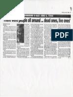 wwii newspaper story