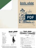 Zetetic Scholar Nos 12-13