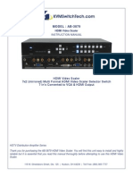 1988_7x2 Multi Format HDMI Video Scaler User Manual