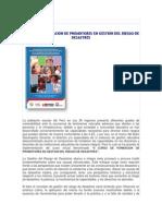 II Curso de Formación de Promotores en Gestión Del Riesgo de Desastres Modulo 1