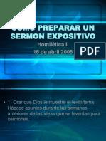 Como Preparar Un Sermon Expositivo