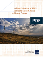 Real-Time Evaluation of ADB's  Initiatives to Support Access  to Climate Finance