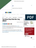 Tim Eriksen Deep Deep Value Idea_ Long AWILCO12